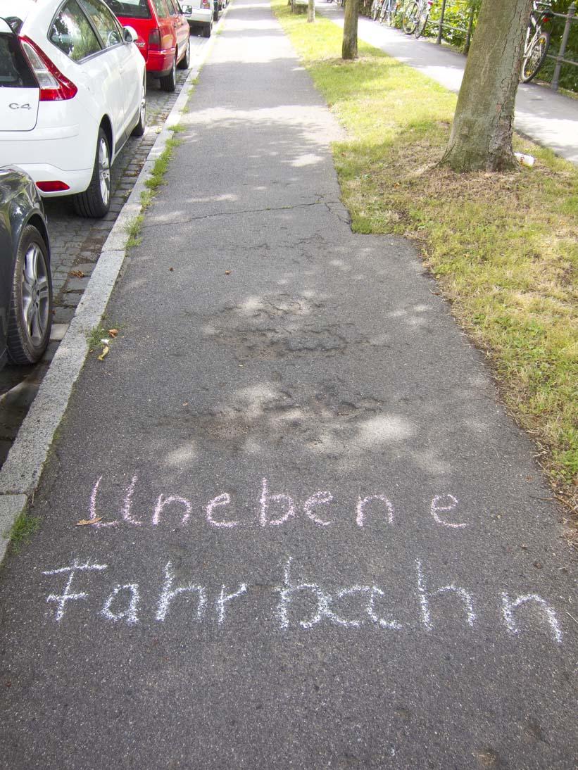 Fahrradweg am Kunigundendamm: Foto: Erich Weiß
