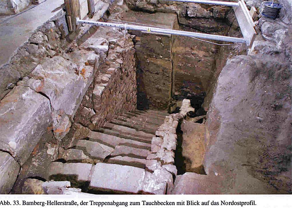 Treppenabgang zum Tauchbecken. Foto: Hans-Peter Süss