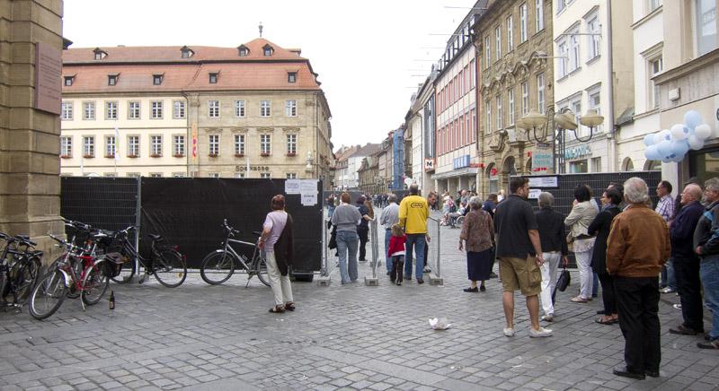 Maxplatzabsperrung vom Grünen Markt, Juni 2012. Foto: Erich Weiß