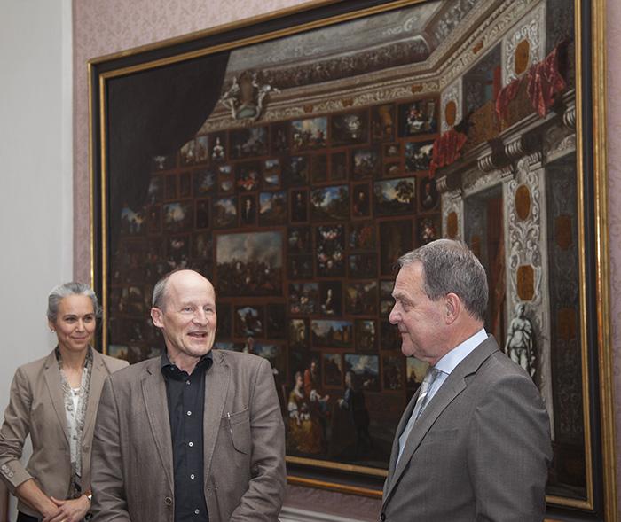 Barocke Hängung fasziniert nicht nur Kunstminister ...