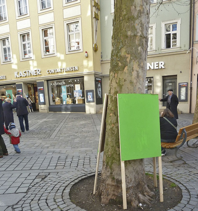 Grüne Platzhalter