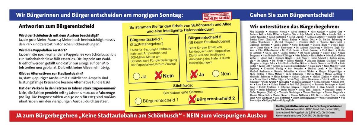 Schönbusch Bürgerbegehren