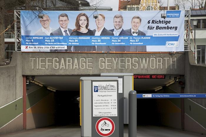CSU-In den Untergrund. Foto: Erich Weiß