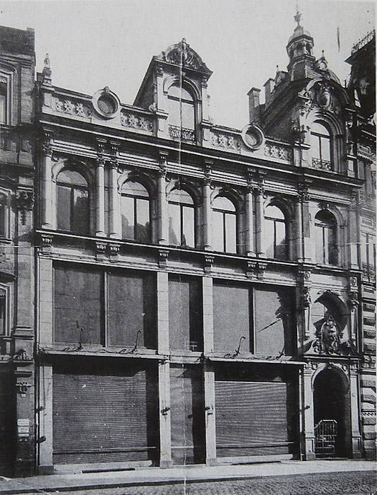 Grüner Markt 18. Ehem. Kaufhaus Tietz, Straßenfront des Baus von 1895. Photographie von 1910
