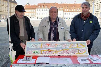Das von Jürgen Hanelt gebaute Modell der Bamberg-Mauern LIVE