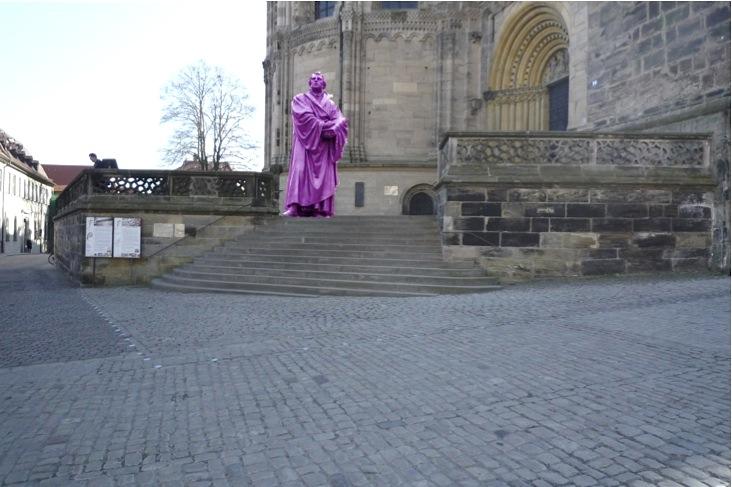 Lutherfigur soll 2017 auf den Domstufen aufgestellt werden.