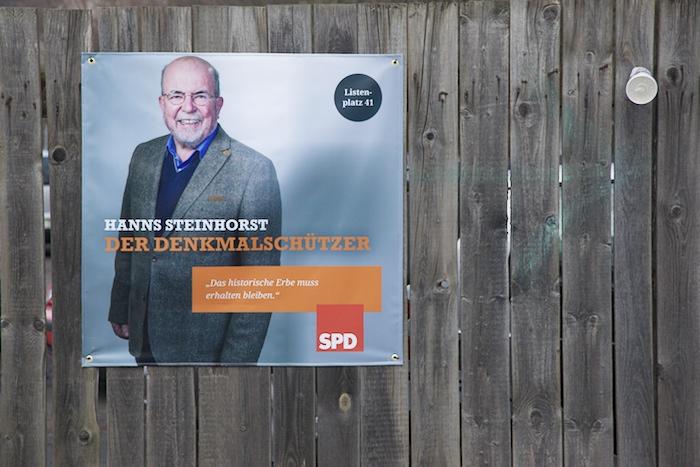 SPD-Plakat Hanns Steinhorst. Foto: Erich Weiß