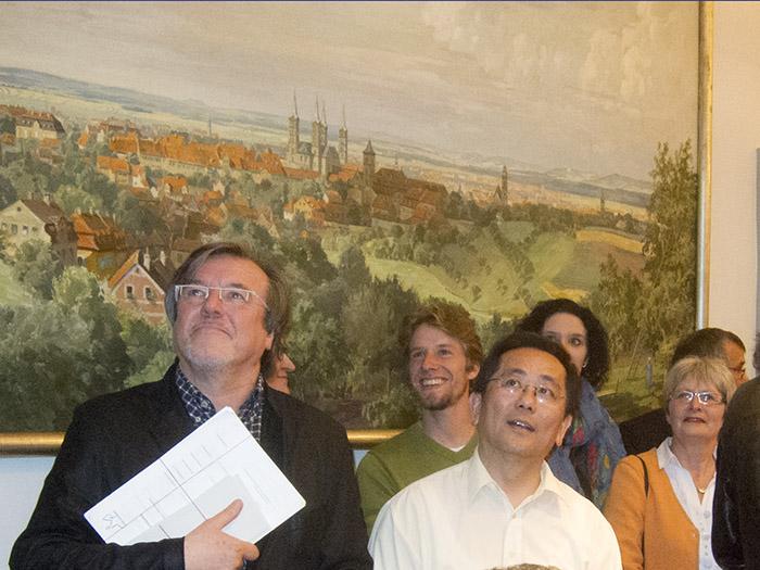 You Xie (CSU) und Sebastian Niedermaier (SPD). Foto: Erich Weiß