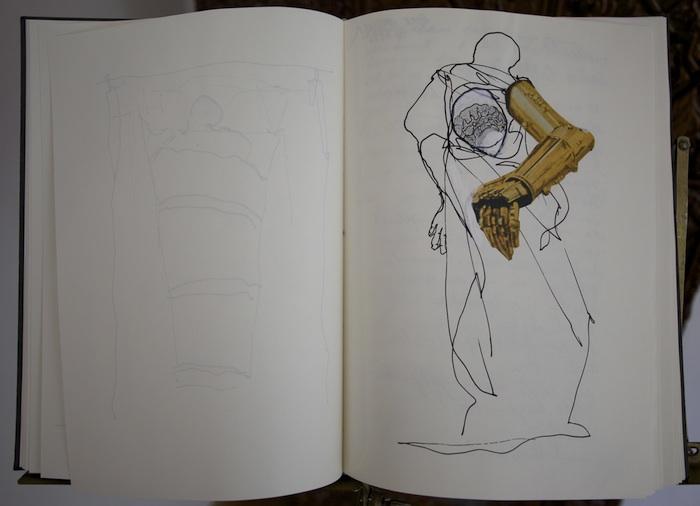 Giovanni, Skizzenbücher. Foto: Erich Weiß