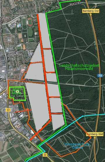 Grafik geplantes Gewerbegebiet Muna. Grafik: Martin Bücker
