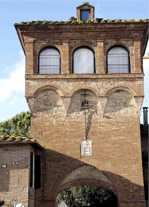 Cuna, an der Via Francigena, bestand bereits 1152 als Grancie und auch als selbständiges Hospital. Foto: Monika Schau