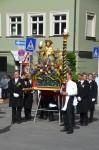 """Das """"Massdeäbild"""" der Bamberger Gärtnerzunft, getragen vom Oberen Gärtnerverein während der Fronleichnamsprozession 2014. Foto: H. Habel."""