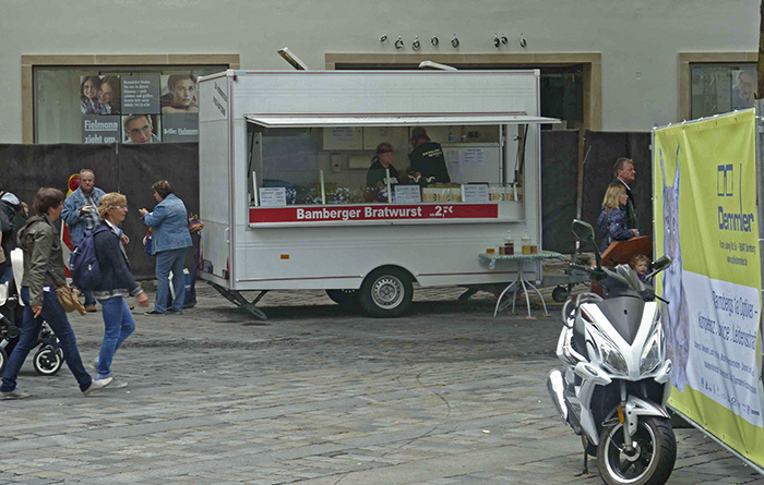 Bamberger Bratwurst. Foto: Christiane Hartleitner