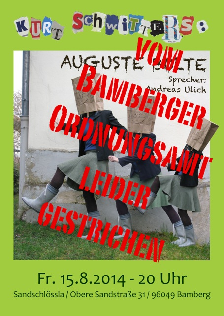 Plakat Schwitters_Absage