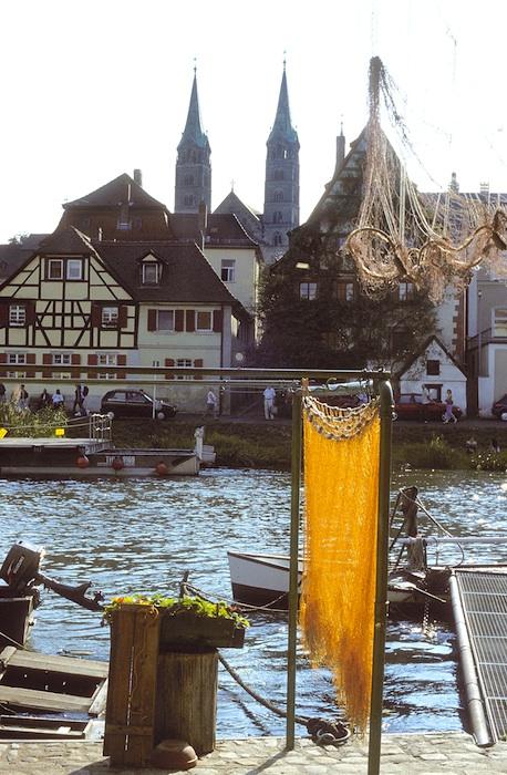 Fischerei mitten in Bamberg. Foto: Andreas Reuß