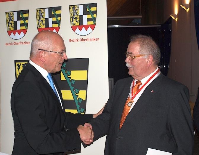 Dr. Günther Denzler und Siegfried Stengel. Foto: Monika Hopf