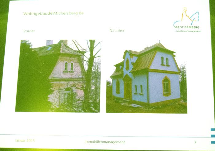 Fassade vom Garten her - PowerPoint Vortrag vom 21.1.2015