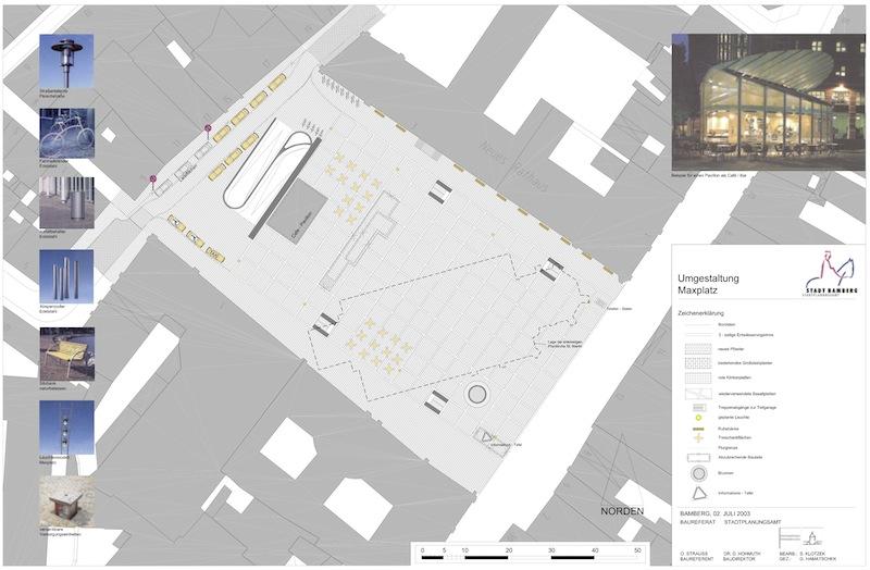 Überlegung zur Umgestaltung Maxplatz. Stadtplanungsamt 2003
