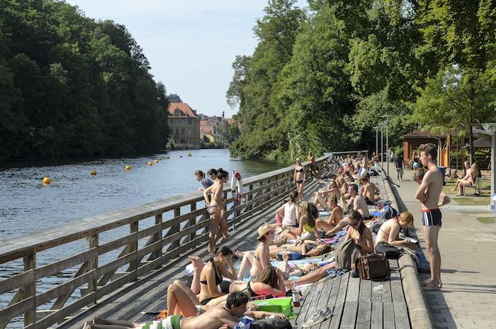 Hainbadestelle. Foto: Stadtwerke Bamberg