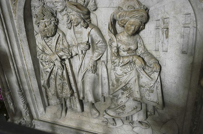 Kaisergrab im Bamberger Dom, Pflugscharprobe Kunigundes. Foto: Erich Weiß