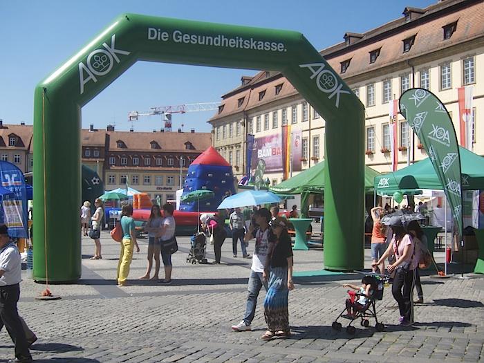 AOK Tag auf dem Maxlatz. Foto: Erich Weiß