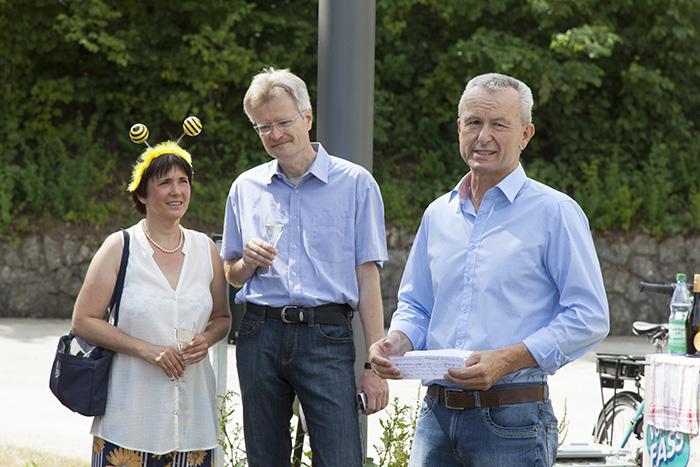 Ilona Munique, Reinhold Burger und Nikolaus Hofmann,. Foto: Erich Weiß