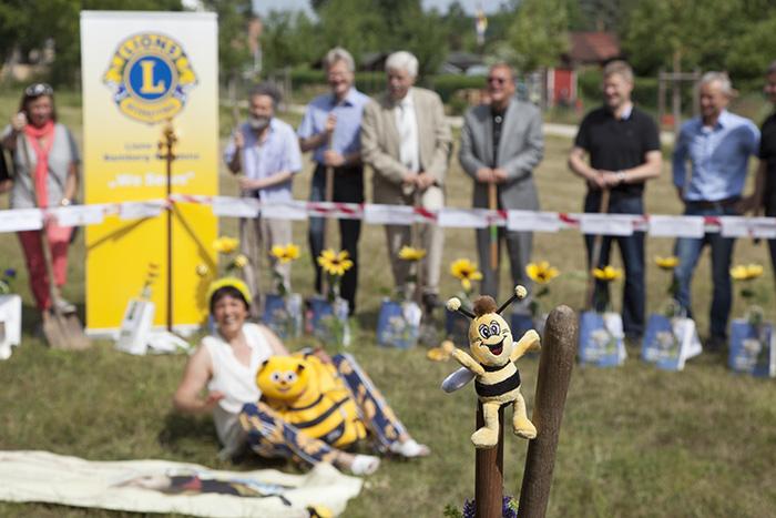 Die Biene freut sich. Foto: Erich Weiß