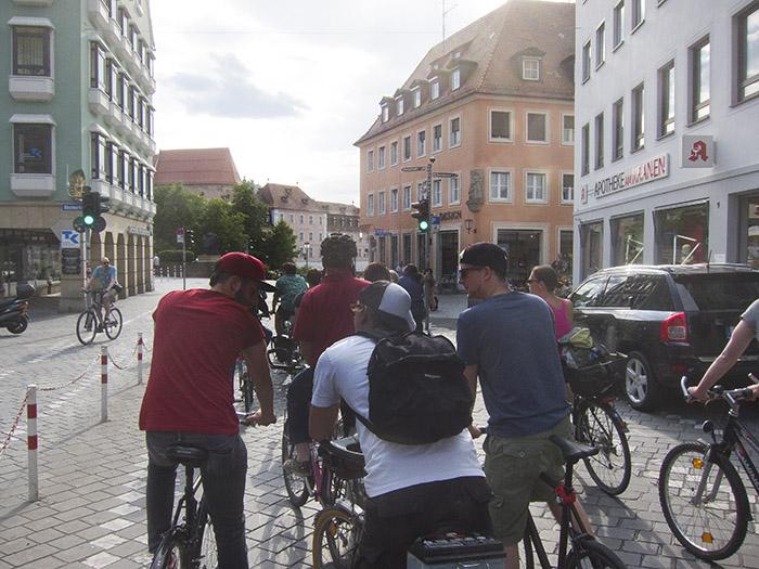 Radfahrer und Radfahrer. Foto: Erich Weiß