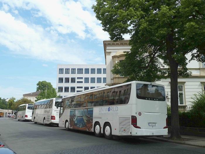 Busparkplätze an der Südl. Promenade. Foto: Christiane Hartleitner