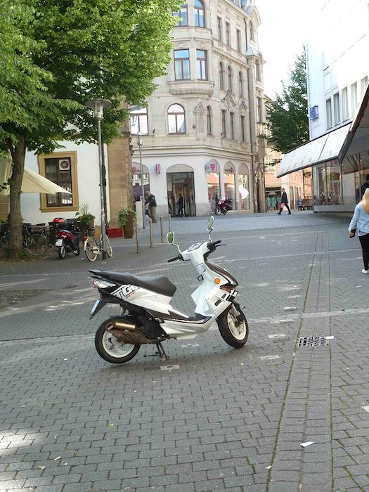 Zurückgebaute Fahrradparkplätze an der Promenade. Foto: Christiane Hartleitner