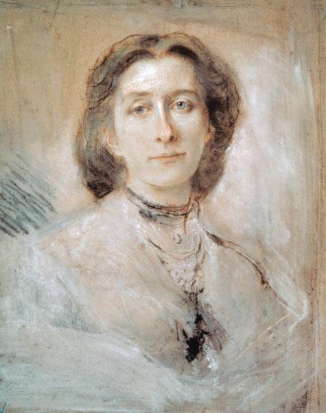 Cosima Wagner, porträtiert von Franz von Lenbach im Jahr 1879 (Öl auf Leinwand)