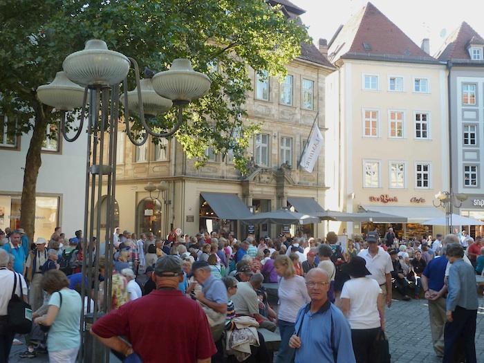Touristen am Freitag Nachmittag. Foto: Christiane Hartleitner