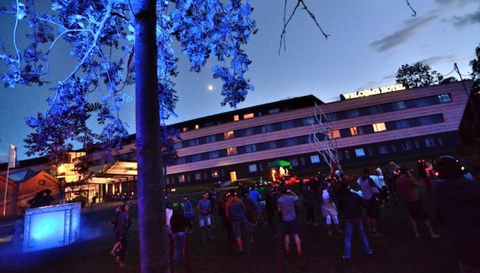 Kopfhörerparty.  Foto: Guido Apel