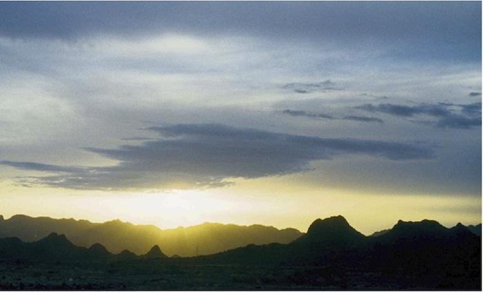 Sonnenaufgang im Asir Gebirge