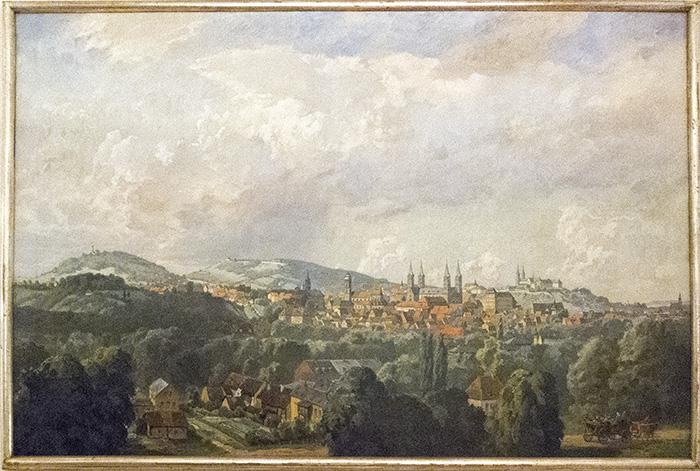 Bamberg Bild von Bayerlein im Ratssaal, Rathaus Maxplatz. Foto: Erich Weiß