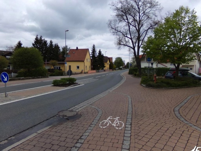 Radweg in Hirschaid. Foto: Cycleride