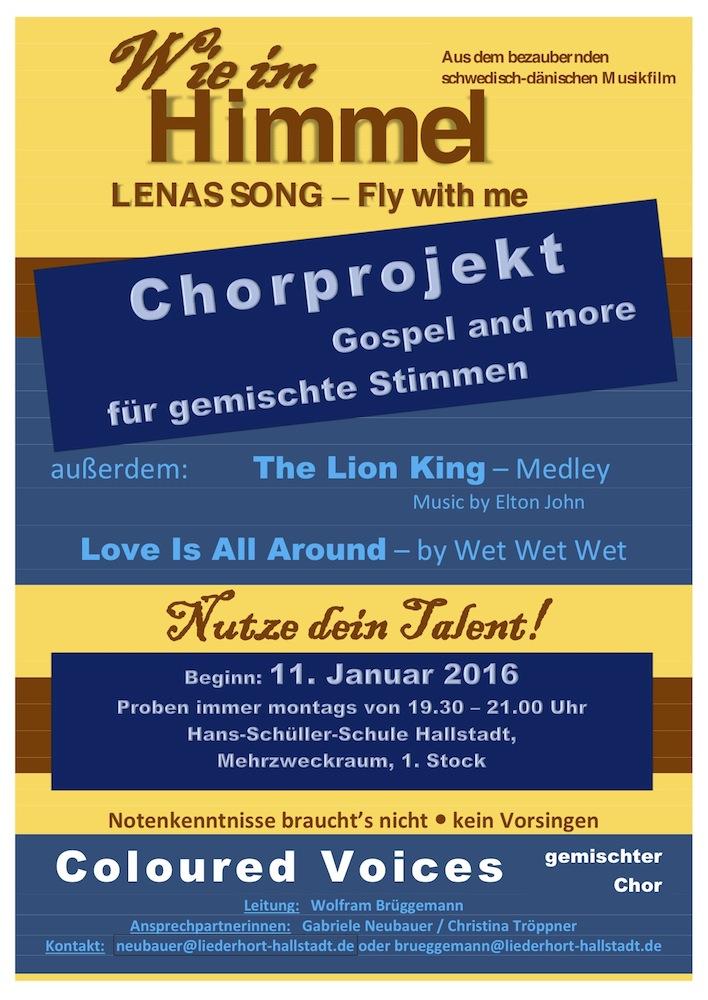 Chorprojekt Jan. 16