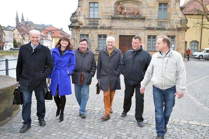 v.l.n.r. Herbert Lauer, Dr. Ursula Redler, Wolfgang Wußmann, Dieter Weinsheimer, Hans-Jürgen Eichfelder, Michael Bosch.