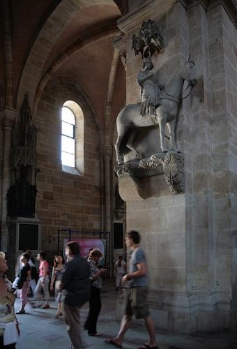 Bamberger Reiter im Dom. Foto: Erich Weiß