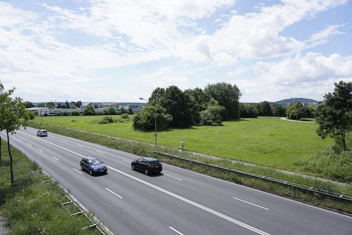 Grünfläche am Berliner Ring. Foto: Erich Weiß