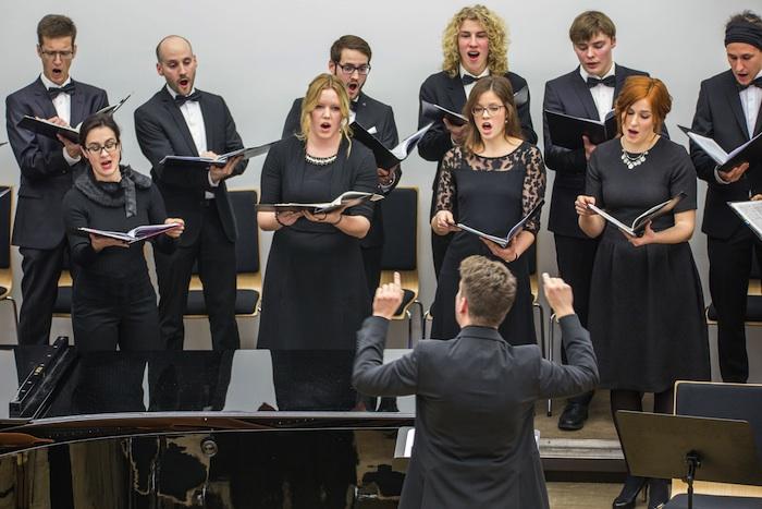 Kammerchor der Universität Bamberg. Foto: Rudolf Hein