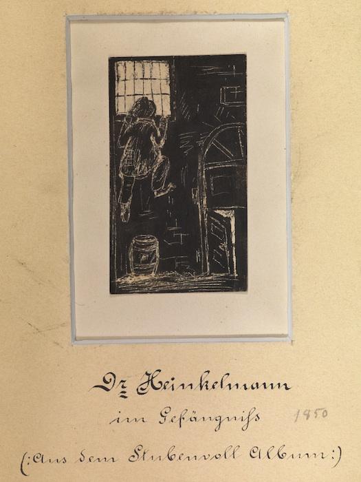 Dr. Heinkelmann im Gefängnis. © Staatsbibliothek Bamberg / Gerald Raab, Bild 438