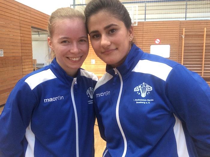 Meike Hartenstein (links) und Sabereh Kabiri (rechts) konnten am Wochenende im Damendoppel keine Punkte erzielen.