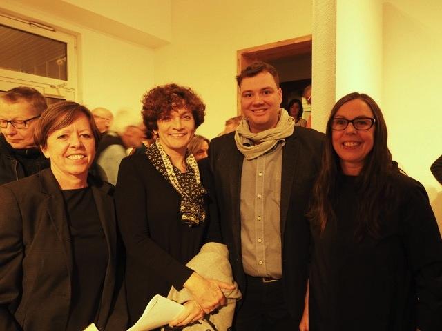 v.l. Gabi Weinkauf, Christiane Hartleitner, Dominik Hofstätter und Christiane Toewe. Foto: Michael Froehlcke