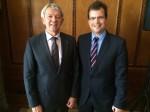 Landrat Johann Kalb und Bürgermeister Dr. Christian Lange
