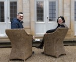 Die neuen Pächter des Cafés im Rosengarten, Floriana Foti und Heinz Zaglauer. Foto: Bayerische Schlösserverwaltung