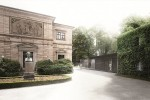 Haus Wahnfried und der von Volker Staab entworfene Neubau mit Glasfassade, der vom ehemaligen Gärtnerhaus aus tief in den Wahnfried-Garten führt Foto: Richard-Wagner-Museum Bayreuth