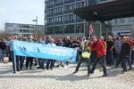 Streikende bei der Kundgebung am Standort in der Bamberger Gartenstadt. Foto: ver.di