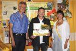 Preisverleihung, v.l.: Reinhold Burger, Michael Gerencser und Ilona Munique. Foto: Harald Rieger, RiegerPress
